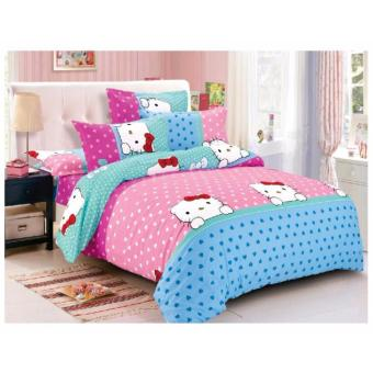 cartoon soft cotton bed sheet set of 3 (fitted sheet and pillowcase) - 4