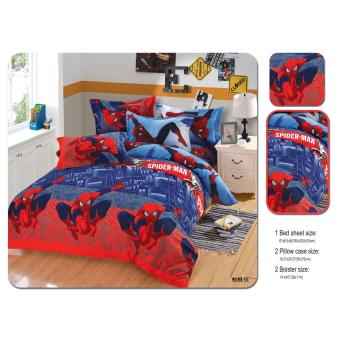 cartoon soft cotton bed sheet set of 3 (fitted sheet and pillowcase) - 5