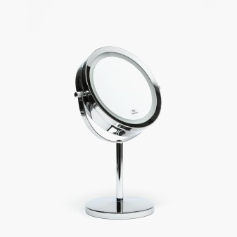 Cascade Round Vanity Mirror with LED Light