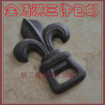 Cast Iron wrought iron Lily bottle opener wine
