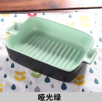 Ceramic baked rice dishes Square Plate oven dish