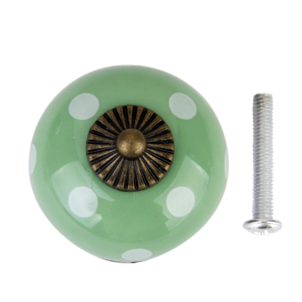 Ceramic Dot Door Knob (Green) - picture 2