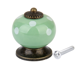 Ceramic Dot Door Knob (Green)