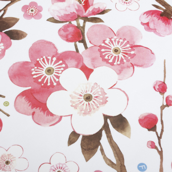 Cherry Peach Blossom Flower Butterfly Removable Wall Sticker