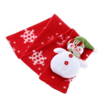 Children Kids Christmas Scarf Unisex Boy Girl Xmas Muffler Christmas Cloth Accessory (Intl)