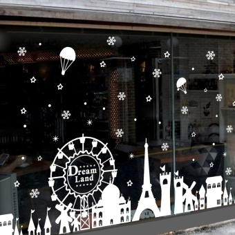 Christmas clothing shop store window stickers wall stickers