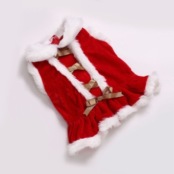 Christmas Costume Coat Clothes Skirt Dress for Pets Dogs Dog Christmas L