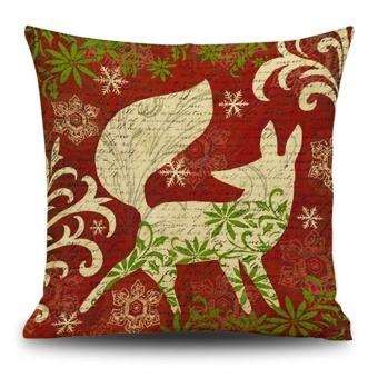 Christmas Cotton Linen Cushion Cover Throw Waist Pillow Case Sofa Home Decor A - intl - picture 2
