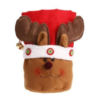 Christmas Decor Candy Doll Bags Xmas Gift Pocket (Deer) - intl