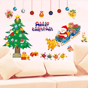 Christmas decoration decorative stickers window wall adhesive paper