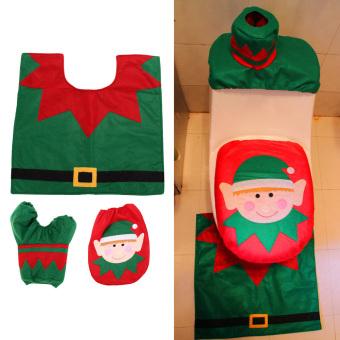 Christmas Decoration Santa Snowman Toilet Seat Cover - picture 2
