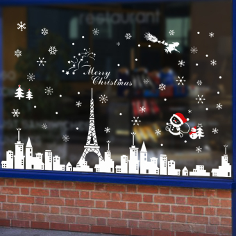 Christmas decoration shopping malls decorative shop window grilles