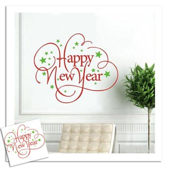 Christmas Decoration Waterproof Easy Instant Decoration Wall Sticker Xmas New Year Typeface Sticker - picture 2