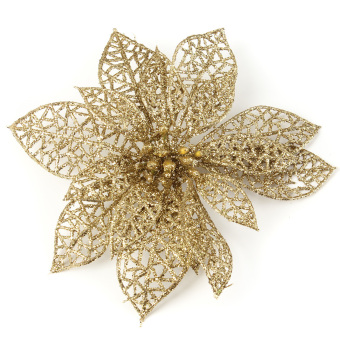 Christmas Flowers Xmas Tree Decorations Glitter Hollow Wedding Party Decor - picture 2