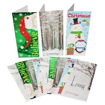 Christmas Greeting Cards 12-piece Set