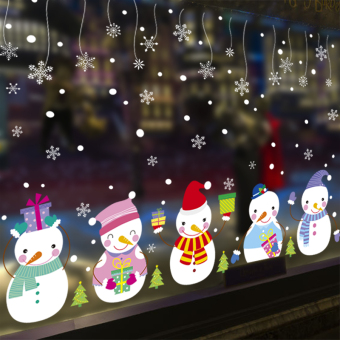Christmas mall shop window wall sticker