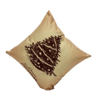 Christmas Pillow Case Sofa Waist Throw Cushion Cover Home Decor J - intl - picture 2