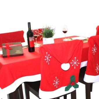 Christmas Red Rectangle Tablecloth Back Table Cover Home Dinner Decor - intl - picture 2