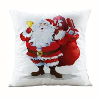Christmas Santa Claus Pillow Case Sofa Waist Throw Cushion Cover Home Decor - intl
