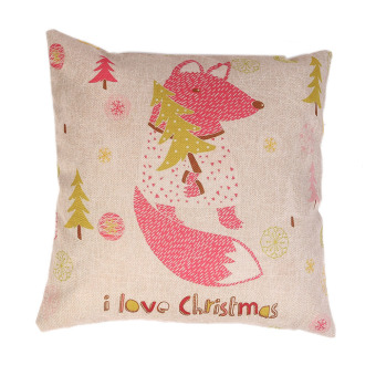 Christmas Squirrel Pillow Cover (Intl)