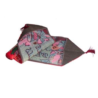 Christmas Tapestry Table Cloth Runner Jingle Bells w/ Tassel Multicolor - intl - 4