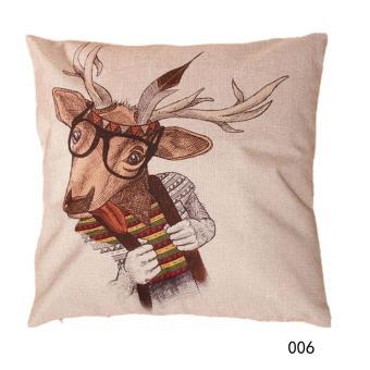 Christmas Throw Home Decorative Cotton Linen Pillow 006