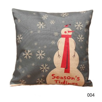 Christmas Throw Home Decorative Cotton Linen Pillow Case Cover 004