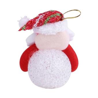 Christmas Tree Hanging Ornaments Decor LED Light Doll Toy #Santa Claus - intl - 4
