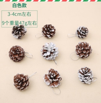 Christmas tree pine cones DIY accessories
