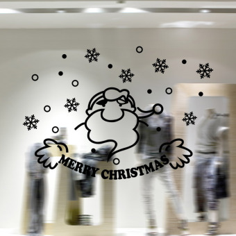 Christmas Wall Art Removable Home Vinyl Window Wall Stickers Decal Decor A10 Black M-31