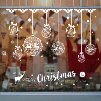 Christmas window adhesive paper shop Decorative Products