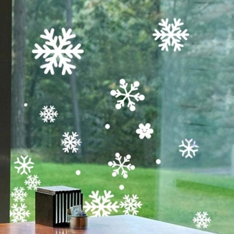 Christmas Window Snow Flake Stickers Xmas Winter Decorations - intl - picture 2