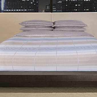 Classic Home Luxe 250 Parma Checkered Bed Linen 4-piece Set