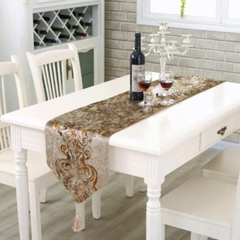 Classic Modern Cotton Linen Table Table Runner color:#5 size:33*210cm - intl - 2