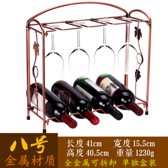 Classical metal Hong Wrought Iron Wine Rack bottle rack