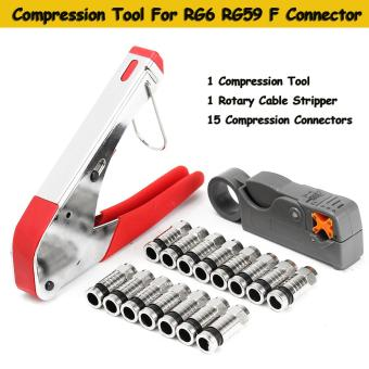 Coaxial Compression Tool for RG59 RG6 BNC RCA Connector Coax Crimper F Type - intl