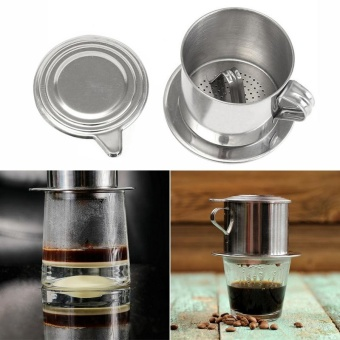 Cocotina Hot Stainless Steel Vietnamese Coffee Drip Filter Maker Infuser Set 5.5 x 6.5cm - intl