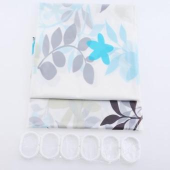 Coffee Tree Bathroom Waterproof PEVA Shower Curtain - intl - 5