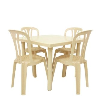 Cofta Sapphire Table and Chairs- 5-piece Set (Granite Beige)