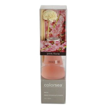 Color Sea Pink Flora Natural Aroma with Reed Sticks and Flower Diffuser - picture 2