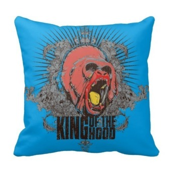 Colored Skeleton Head Double-Side Printing Pillow Case Cover