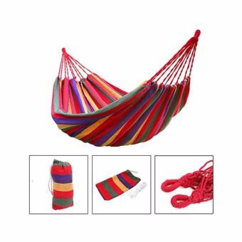 Colorful Canvas Hammock Duyan Hanging Sleeping Bed - 2