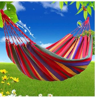 Colorful Canvas Hammock Duyan Hanging Sleeping Bed