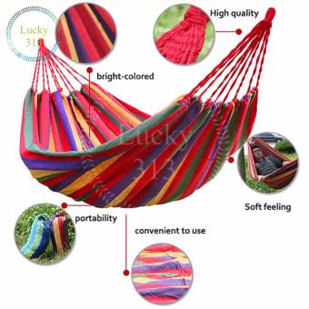 Colorful Canvas Hammock Hanging Sleeping Bed Red