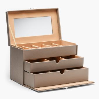 Columnbus Parisian 3-layer Jewelry Box (Grey)