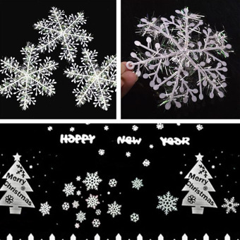 Comebuy88 30pcs White Pretty Snowflake Ornaments Christmas TreeDecorations Home Price Philippines