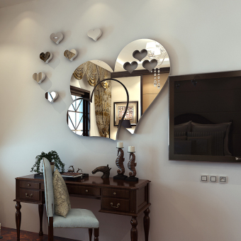 Cool mirror living room entrance sticker wall stickers