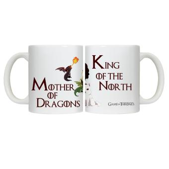 CopyCut Couple Cute Inspirational Statement Mug Game of Thrones Khaleesi John Snow - Gift Set - 2