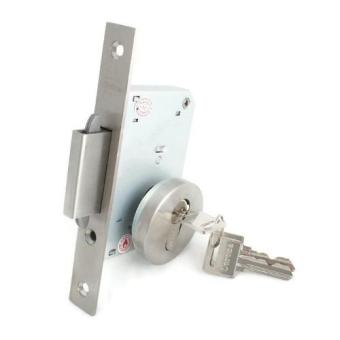 Corona Mortise Double Lock with Hook for Swing Sliding Doors(Silver)