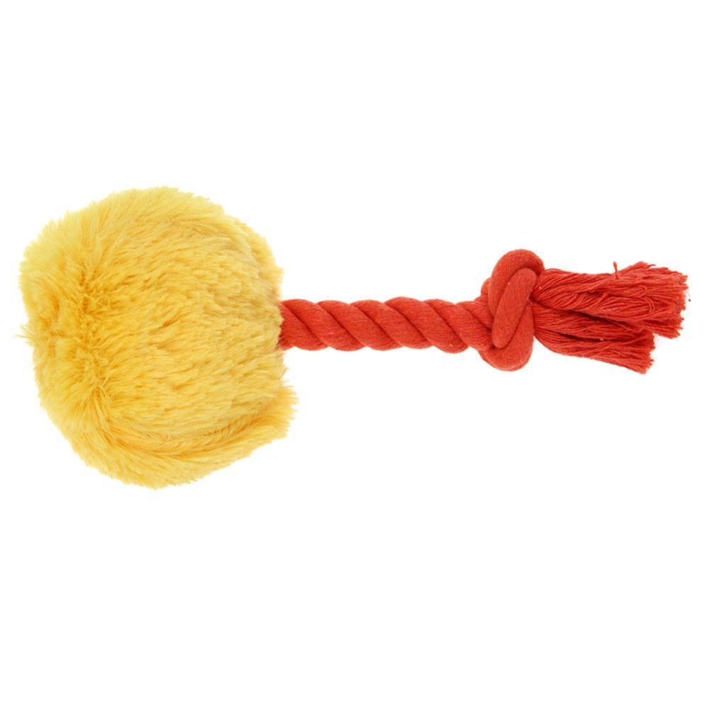 ... Cotton Rope Cute Dog Toys Stuffed Pet Toy Plush Puppy Chew Squeaky Toy(Yellow) ...